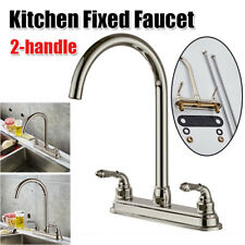 Double Handle Kitchen Fixed Basin Sink Mixer Tap Pure Water Spout Filter Faucet