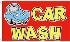 Car Wash Cartoon Flag 5 x 3 Ft Flag