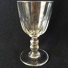 Baccarat  H 11,6cm verre cristal Gondole Médicis taille côtes plates fin XIX e