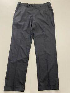 Brioni 34 x 32 Theta Super 150s Micro Houndstooth Pleated Cuffed Dress Pants