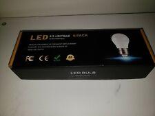 6 Packs A15 LED Bulb, Ceiling Fan Light Bulbs 6W (60W Equivalent),4000K, 600lm