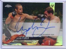 2018 Topps UFC Chrome URIJAH FABER Fighter Auto Refractor Card Autograph