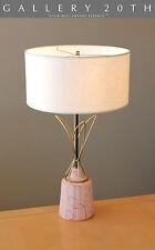 ATOMIC FLAIR! MID CENTURY MODERN PINK TABLE LAMP! SPUTNIK VTG 1950'S EAMES 60'S