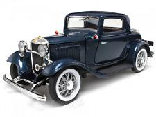 1932 FORD 3-WINDOW CUSTOM   METALLIC DARK BLUE NEW IN BOX