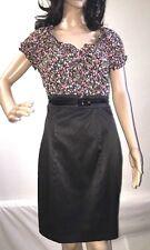 XOXO Pencil Dress Size 5 Floral Print Sexy Skinny Belt Knee Length Flattering