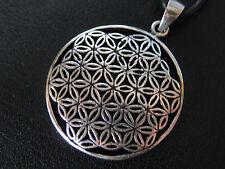 Blume des Lebens 925'er Silber Ketten Anhänger + Geschenkbox + Band    / KA 339