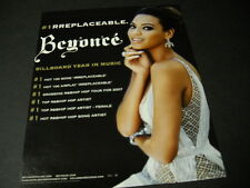 Beyonce Is #1rreplaceable Clever 2007 Promo Poster Ad