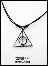 Collar Ajustable Plateado Las Reliquias de la Muerte Harry Potter Colgante