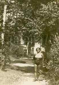 1930s Era Stalin Cult Pretty Woman Bare Figure Big Breast Posing Russian photo
