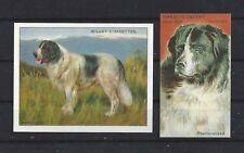 1903 - 1940 Uk Reproduction Dog Art Cigarette Card Set 2 Landseer Newfoundland