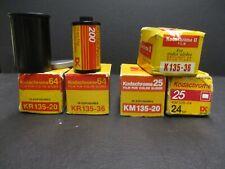 Kodak Kodachrome 35mm film expired refrigerated new 6 rolls asa 25, 64, 200