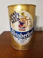 Vtg Oktoberfest Real Draft Canada 3.77L Flat Top Gallon Steel Beer Can Mini Keg