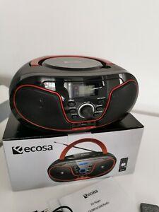 CD-Player Boombox Stereoanlage Tragbares Kinder Radio CD-Radio Kompaktanlage Rot