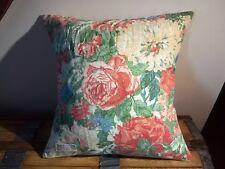 """Sanderson Floral Lin & Laura Ashley Rayures HOUSSE DE COUSSIN 17"""" Rose Vert Bleu"""