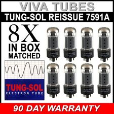 Brand New Tung-Sol Reissue 7591A Plate Current Matched Octet (8) Vacuum Tubes