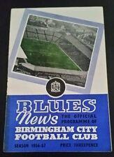 Birmingham City v Preston North End Programme 08/09/56