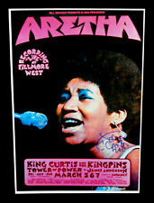 ARETHA FRANKLIN SIGNED 12x18 CONCERT POSTER TOUR SHOW LIVE FILMORE QUEEN OF SOUL