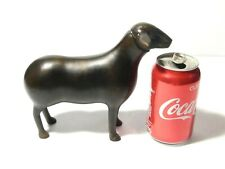 More details for vintage modern art bronze sheep figurine ornament 8 x 6 and 1/2 inch