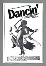 """Bob Fosse """"DANCIN'"""" Ann Reinking / Wayne Cilento 1978 Boston Tryout Flyer"""