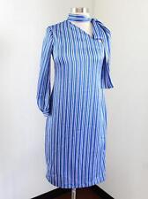 Banana Republic Blue White Striped One Shoulder Tie Bow Neck Dress Size 00P