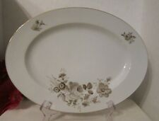 new listingjohann haviland twilight rose 12 34 serving platter sepia bavaria germany