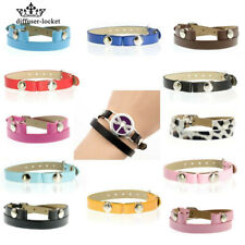 5pcs Fashion Wristband Unisex Colorful PU leather Bangle Fit DIY Bracelet