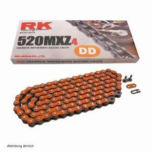 catena trasmissione moto cross enduro Rk Mxz4 colorata arancio passo 520 KTM EXC