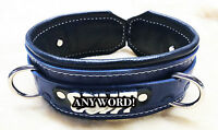 Custom Leather Collar choker restraint choose color role play Hand stamped