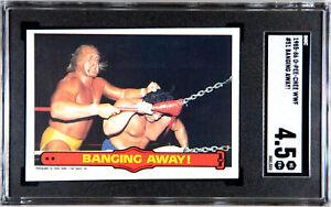 1985 O-PEE-CHEE WWF HULK HOGAN ROOKIE #51 BANGING AWAY SGC 4.5 VG EX+ #0551533
