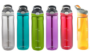 Contigo Autospout Drink Water Bottle Straw Ashland 24oz - 709mL BPA Free Sports
