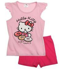 Hello Kitty manga larga camiseta vestido camisa Short Pijama Chaqueta de punto