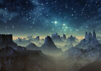 A1 | Alien Planet Mountains Poster Print 60 x 90cm 180gsm Space Wall Art #14286
