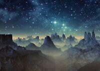 A1 | Alien Planet Mountains Poster Print 60 x 90cm 180gsm Space Wall Art #14286