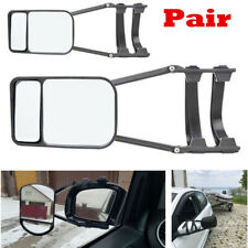 2pcs Caravan Trailer Towing Car Safety Glass Clip-on Wing Mirror Extensions