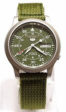 SEIKO 5 SNK805 Military Style Automatic Men's Green Watch SNK805K2 Brand New !!