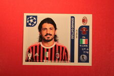 PANINI CHAMPIONS LEAGUE 2011/12 N 508 GATTUSO MILAN WITH BLACK BACK MINT!!