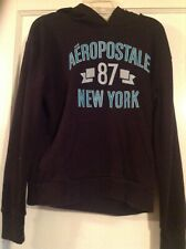Aeropostale Hoodie black Jacket Women's sz XS Sweat Shirt Jacket X-Small