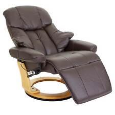 Leder XXL Relaxsessel TV Sessel drehbar 150kg belastb. Fernsehsessel braun 56057