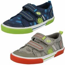 Boys Startrite Machine Washable Hook & Loop Casual Canvas Pumps Big Bug