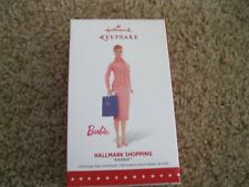 2015 Hallmark Ornament - Hallmark Shopping Barbie - Pink Suit - New in Box