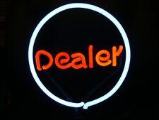 POKER DEALER POOL NEON LIGHT LAMP GAMEROOM BAR SIGN