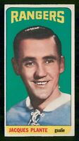 JACQUES PLANTE 64-65 TOPPS TALLBOYS HIGH NUMBER 1964-65 NO 68 EX+  24403