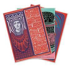 Set of 3 (three) Fillmore Grateful Dead Captain Beefhart Concert Poster Prints
