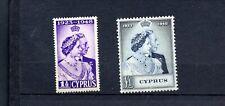 Cyprus. GVI. 1948. Royal Silver Wedding  set. MVLH.
