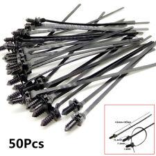 50X Car Nylon Tie Wrap Cable Fasteners Clips Self-locking Plastic Zip Tie Fasten