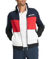 Tommy Hilfiger Mens Jacket Blue Size XL Full Zip Fleece Colorblocked $129 262