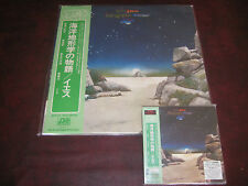 YES TOPOGRAPHIC OCEANS RARE HDCD JAPAN OBI REPLICA CD SET + JAPAN MINT VINYL