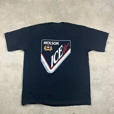 Vintage Molson Ice Beer Graphic T-Shirt Size XL Heavyweight Cotton Canadian VTG