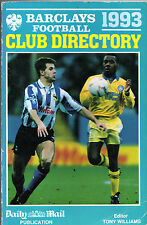 BARCLAYS FOOTBALL CLUB DIRECTORY 1993 - PUBLISHED BY THE DAILY MAIL - PB (1992)