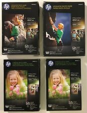 (4) HP 4 x 6 and 5 x 7 in. Glossy Inkjet Photo Paper 53 and 66lb. 360 Sheets NEW